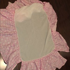 Other - Pink crib skirt.